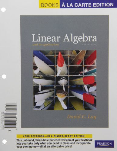 9780321780720: Linear Algebra and Its Applications, Books a la Carte Edition (4th Edition)