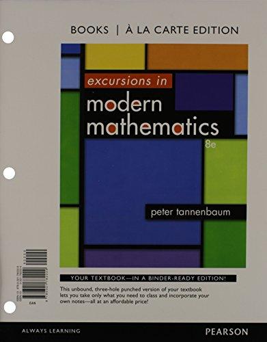 9780321782229: Excursions in Modern Mathematics, Books a la carte Edition (8th Edition)