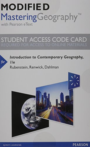 NEW MasteringGeography with Pearson EText -- Standalone: James M. Rubenstein,