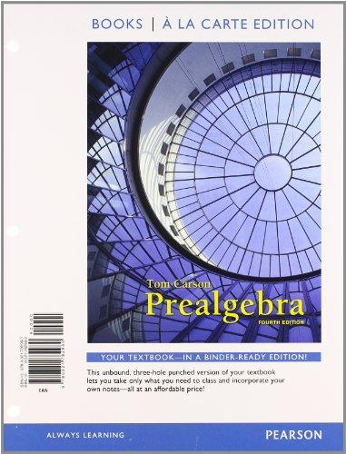 9780321782960: Prealgebra, Books a la Carte Edition (4th Edition)