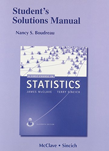 9780321783431: Student's Solutions Manual for A First Course in Statistics