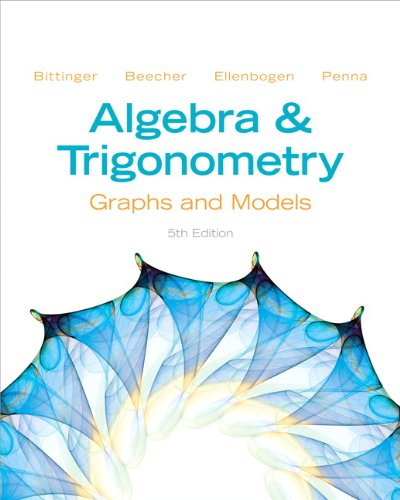 9780321783974: Algebra and Trigonometry: Graphs and Models (5th Edition)