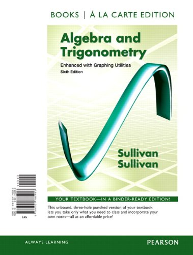 9780321785053: Algebra and Trigonometry Enhanced with Graphing Utilities, Books a la Carte Edition (6th Edition)