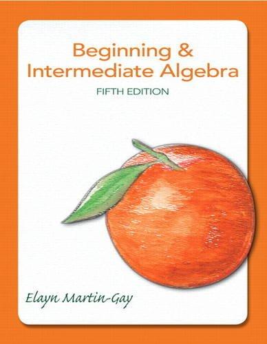 9780321785121: Beginning & Intermediate Algebra (5th Edition)