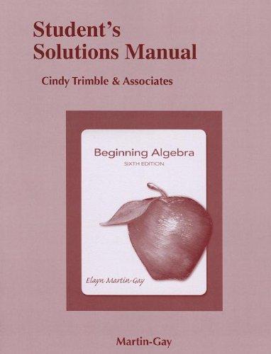 9780321785237: Student Solutions Manual for Beginning Algebra