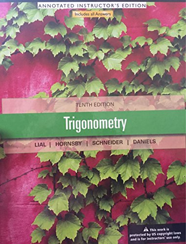 9780321786050: Trigonometry Annotated Instructor's Edition 10th Ed.