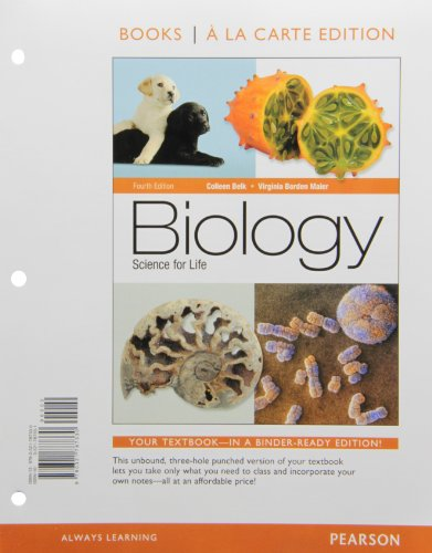 9780321787347: Biology: Science for Life, Books a la Carte Plus MasteringBiology with eText -- Access Card Package (4th Edition)