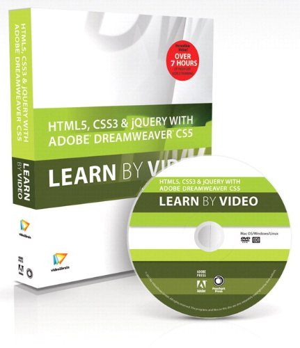 9780321788115: HTML5, CSS3, and jQuery with Adobe Dreamweaver CS5.5 Learn by Video