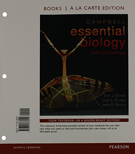 9780321788221: Campbell Essential Biology with Physiology, Books a la Carte Plus MasteringBiology -- Access Card Package (4th Edition)