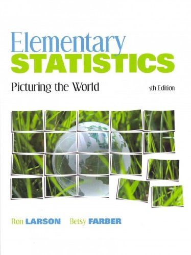 9780321788795: Elementary Statistics: Picturing the World with Student Solutions Manual (5th Edition)