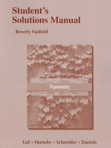 9780321791535: Student's Solutions Manual for Trigonometry