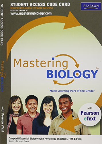 9780321791696: MasteringBiology with Pearson eText -- Standalone Access Card -- for Campbell Essential Biology (with Physiology chapters) (5th Edition)