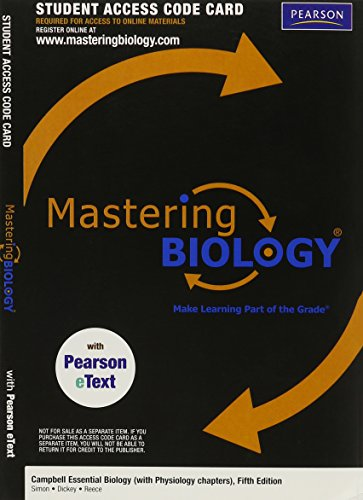 MasteringBiology with Pearson eText -- Valuepack Access: Simon, Eric J.;