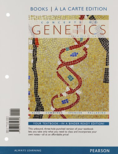 9780321792174: Concepts of Genetics, Books a la Carte Plus MasteringGenetics -- Access Card Package (10th Edition)