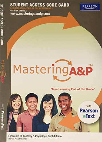 9780321792327: MasteringA&P with Pearson eText -- Standalone Access Card -- for Essentials of Anatomy & Physiology (6th Edition)