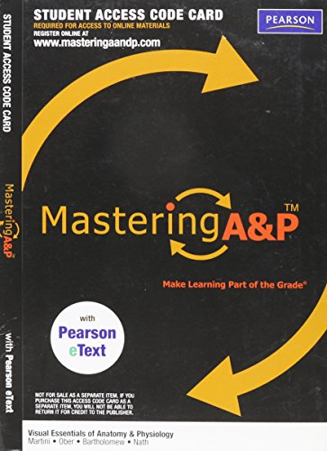 9780321792891: MasteringA&P with Pearson eText -- Valuepack Access Card -- for Visual Essentials of Anatomy & Physiology (ME Component)