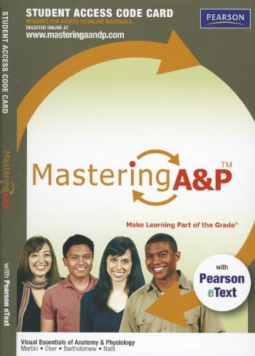 9780321792969: MasteringA&P with Pearson eText -- Standalone Access Card -- for Visual Essentials of Anatomy & Physiology