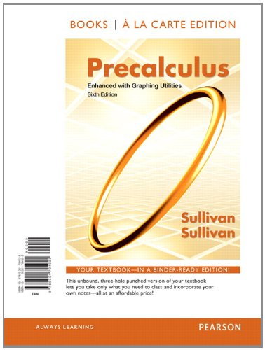 9780321794925: Precalculus Enhanced with Graphing Utilites, Books a la Carte Edition (6th Edition)