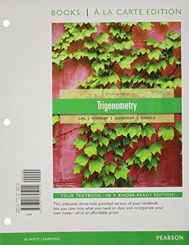 9780321795014: Trigonometry, a la Carte Edition (10th Edition) (Books a la Carte)