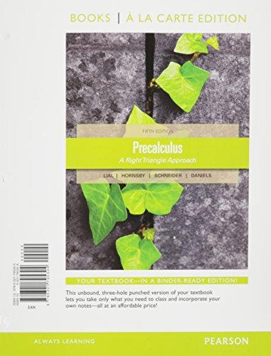9780321795304: Precalculus, Books A La Carte Edition (5th Edition)