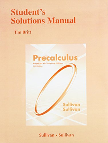 9780321795496: Student Solutions Manual for Precalculus Enhanced with Graphing Utilites