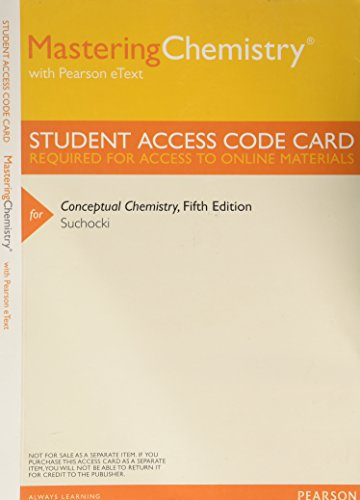 9780321796059: MasteringChemistry with Pearson EText -- ValuePack Access Card -- for Conceptual Chemistry (ME Component)
