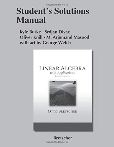 9780321796967: Student Solutions Manual for Linear Algebra with Applications