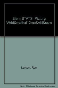 9780321797223: ELEM STATS: PICTURG WRLD&MATHXL12MO&VID&SSM (5th Edition)
