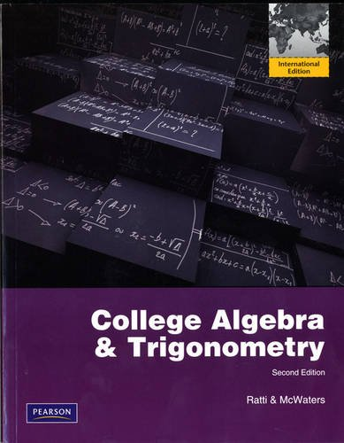 9780321798343: College Algebra and Trigonometry