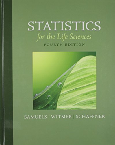 9780321799579: Statistics for the Life Sciences & Student Solutions Manual for Statistics for the Life Sciences Package (4th Edition)