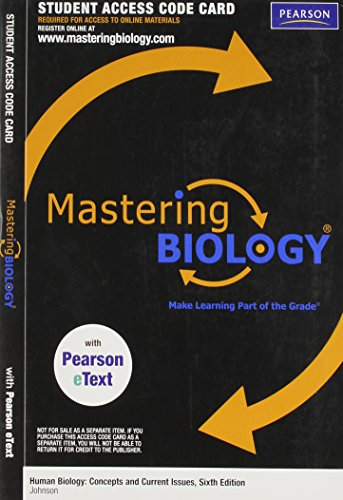 MasteringBiology with Pearson EText - ValuePack Access: Johnson, Michael D.