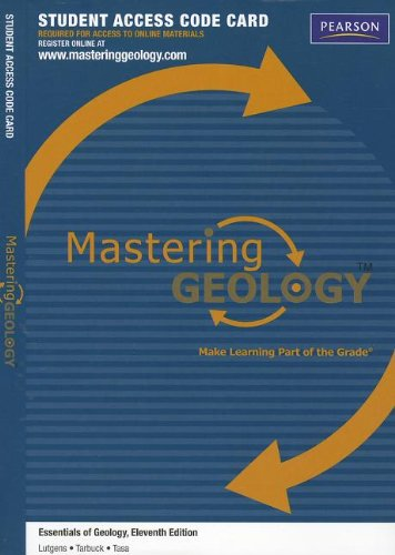 9780321804099: MasteringGeology -- Standalone Access Card -- for Essentials of Geology (Mastering Geology (Access Codes))