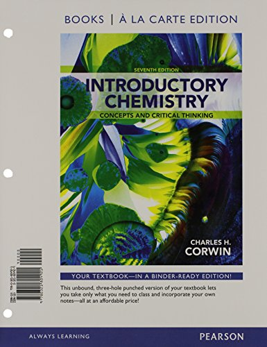9780321804914: Introductory Chemistry: Concepts and Critical Thinking, Books a la Carte Plus MasteringChemistry with eText -- Access Card Package (7th Edition)
