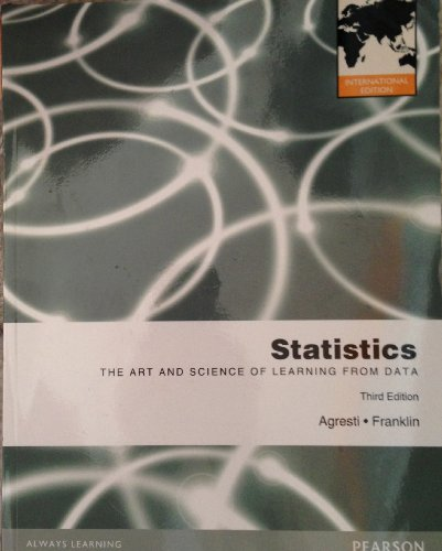 9780321805744: Statistics : The Art and Science of Learning from Data Pie No Us Sale