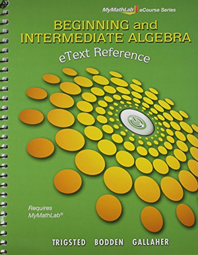 9780321807229: MyMathLab, Guided Notebook, and eText Reference (Mymathlab Ecourse)
