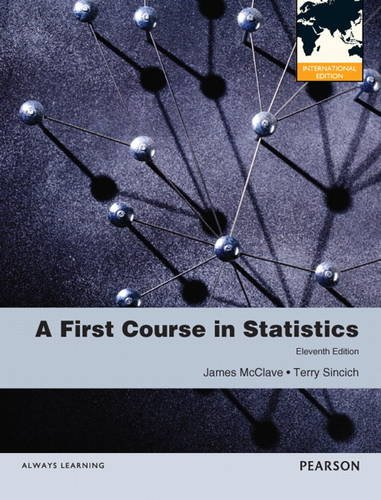 9780321807274: A First Course in Statistics