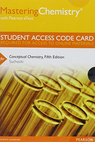 9780321807816: MasteringChemistry with Pearson eText -- Standalone Access Card -- for Conceptual Chemistry (5th Edition)