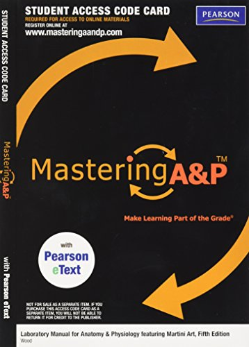 9780321809742: MasteringA&P with Pearson Etext -- Valuepack Access Card -- for Laboratory Manual for Anatomy & Physiology Featuring Martini Art (ME Component)