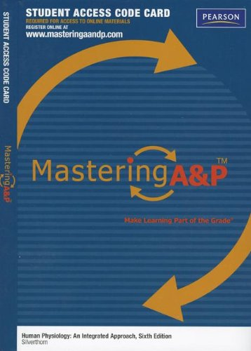 9780321810748: MasteringA&P -- Standalone Access Card -- for Human Physiology: An Integrated Approach
