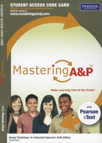 9780321810755: MasteringA&P with Pearson eText -- Standalone Access Card -- for Human Physiology: An Integrated Approach (6th Edition)