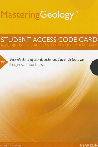 9780321812353: MasteringGeology -- Standalone Access Card -- for Foundations of Earth Science (7th Edition) (Mastering Geology (Access Codes))