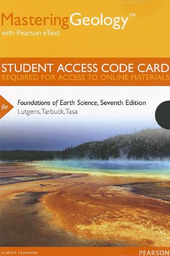 9780321812438: MasteringGeology with Pearson eText -- Standalone Access Card -- for Foundations of Earth Science (7th Edition) (Mastering Geology (Access Codes))