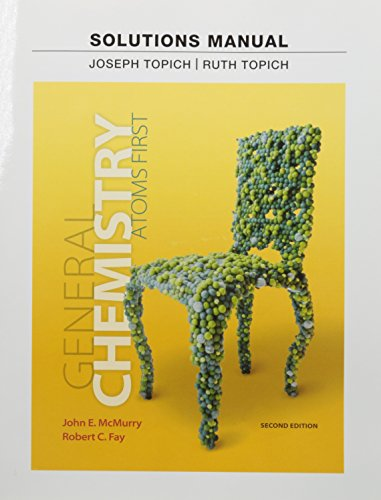 9780321813053: Chemistry Atoms First Instructor's Solution Manual