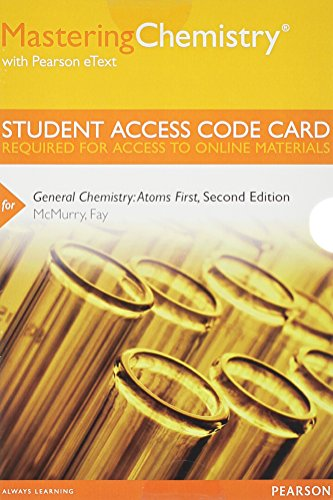 9780321813282: MasteringChemistry with Pearson eText -- Standalone Access Code Card -- for General Chemistry: Atoms First (2nd Edition)