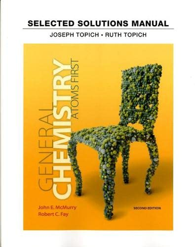 9780321813329: Student Solutions Manual for General Chemistry: Atoms First
