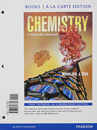 9780321813619: Chemistry: A Molecular Approach, Books a la Carte Plus MasteringChemistry with eText -- Access Card Package (3rd Edition)