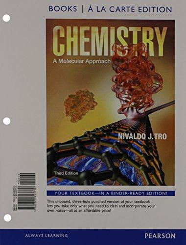 9780321813732: Chemistry: A Molecular Approach, Books a la Carte Edition