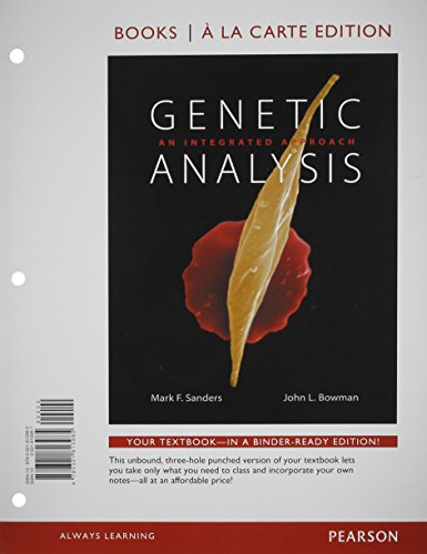 Genetic Analysis: An Integrated Approach, Books a: Sanders, Mark F.;