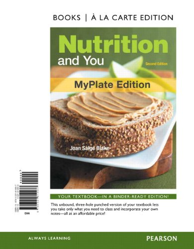 9780321814937: Nutrition and You, MyPlate Edition, Books a la Carte Edition (2nd Edition)