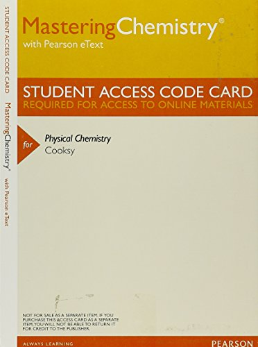 9780321815217: MasteringChemistry with Pearson Etext -- Valuepack Access Card -- for Physical Chemistry